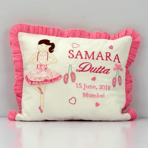 'Li'l Ballerina' Personalised Pillow