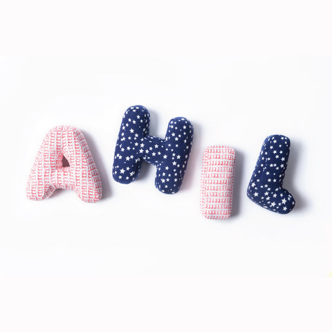 Letter Love Cushions for Boys
