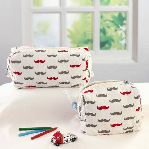 Little Man Travel Pouch Set <br> Set of 2 (Small & Large)
