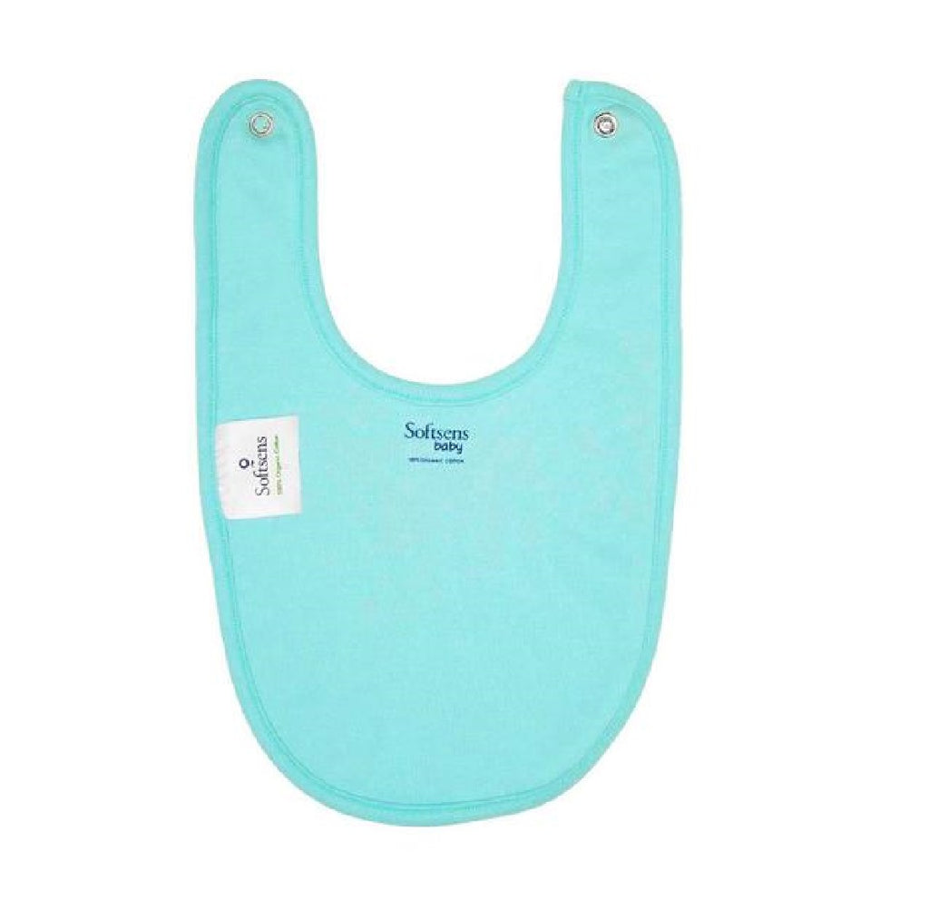 Organic Cotton Bib - Blue Anchor
