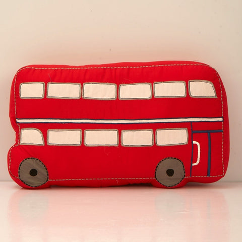 Personalised 'London Bus' Shaped Pillow