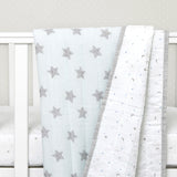 "Organic Quilted Blanket <br> Blue Star<br><span style=""font-size: 10px;"">Can be Personalised</span>"