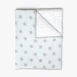 Masilo Organic Quilted Blanket - Blue Star