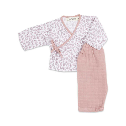 Masilo Kimono Lounge Set - Happy As A Hippo (Meadow)