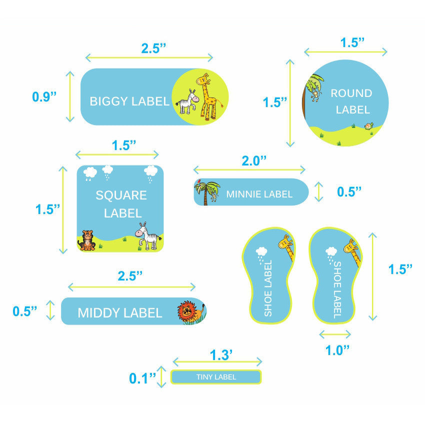 Jungle Bungle Labels Super Saver Set