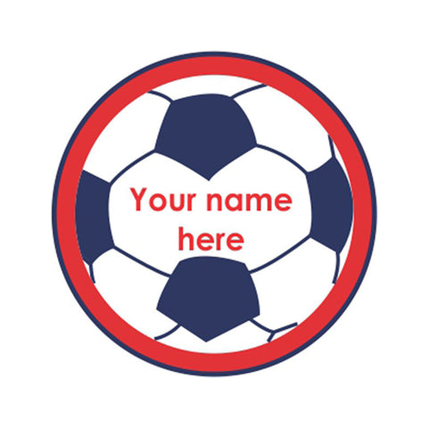 "Football Iron on Labels<br> <span style=""font-size: 11px; font-family:Helvetica,Arial,sans-serif;"">Pack of 30 