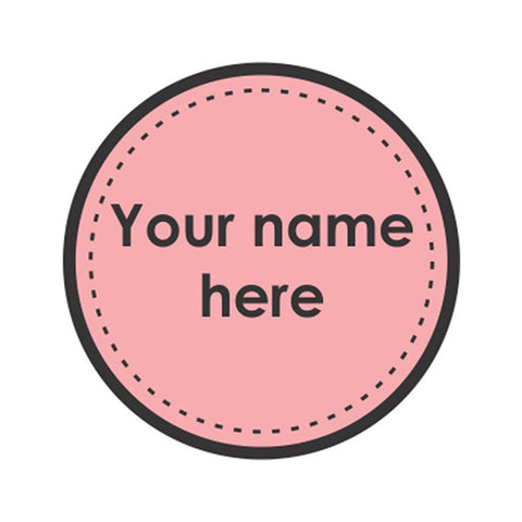 "Pink Dots Iron on Labels<br> <span style=""font-size: 11px; font-family:Helvetica,Arial,sans-serif;"">Pack of 30 
