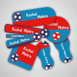 "Football Labels Super Saver Set <br> <span style=""font-size: 11px; font-family:Helvetica,Arial,sans-serif;"">Assorted packs containing upto 154 stickers</span>"