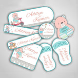 "Teddy Labels Super Saver Set <br> <span style=""font-size: 11px; font-family:Helvetica,Arial,sans-serif;"">Assorted packs containing upto 154 stickers</span>"