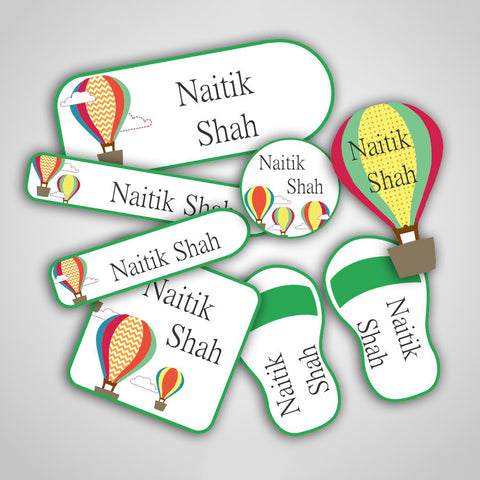 Hot Air Balloon Labels Super Saver Set