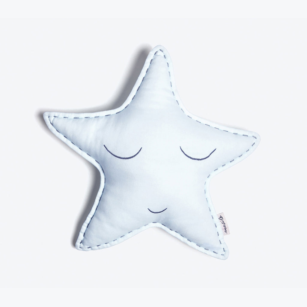 Organic Shaped Cushion <br> Blue Star