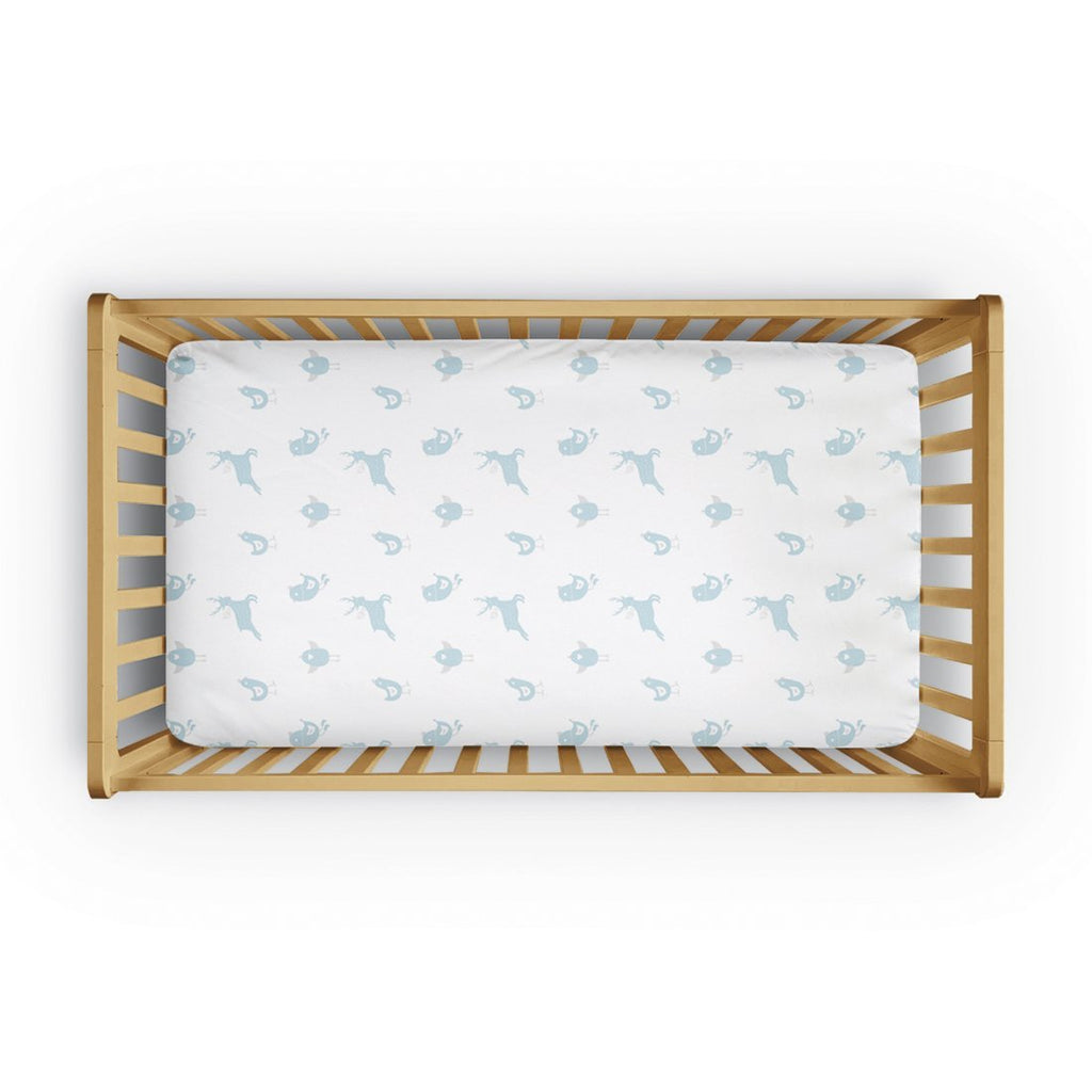 100% Organic Cotton Fitted Cradle Sheet - Birds