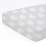 100% Organic Cotton Fitted Crib Sheet Pack of 2 - Giraffe/Owl
