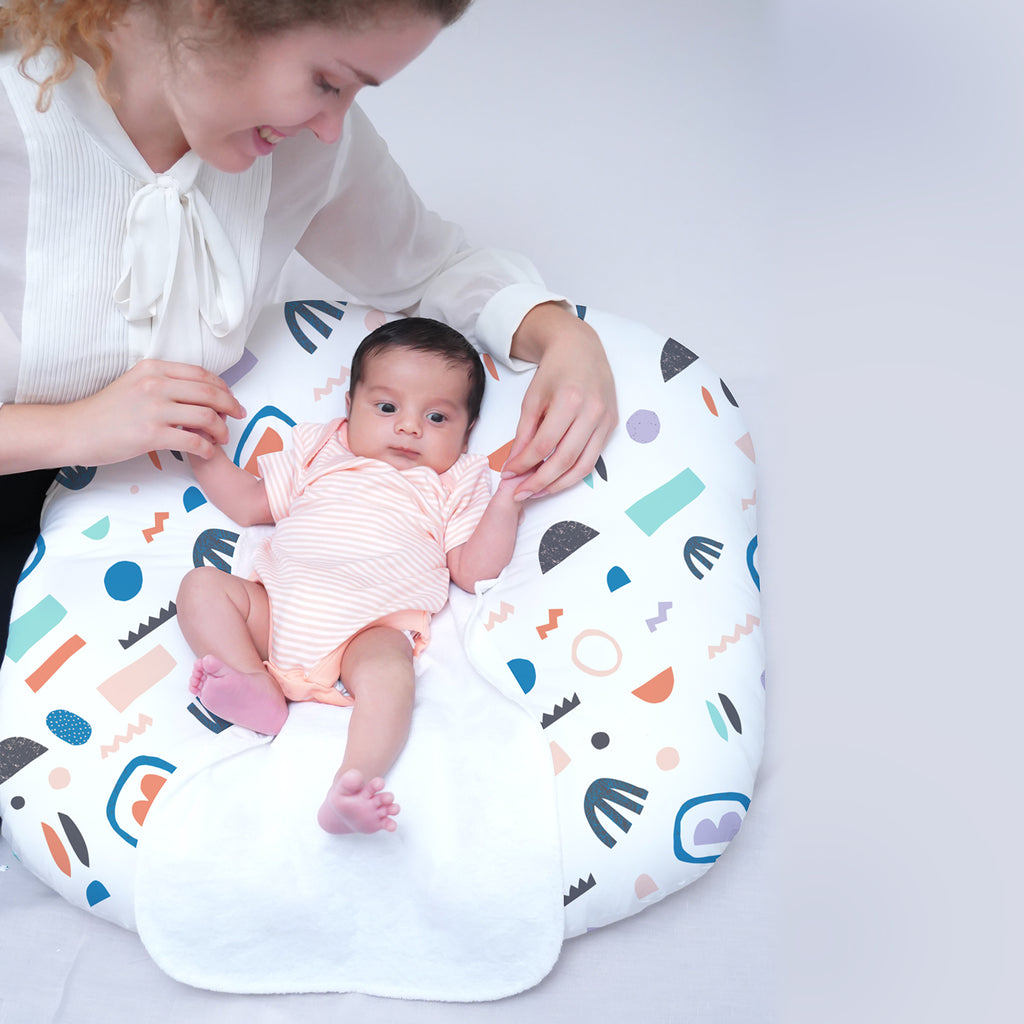 Rabitat Snooze Baby Lounger (With waterproof protection) - Desert River