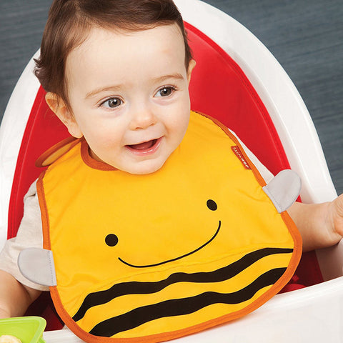 Skip Hop Zoo Infant and Toddler Tuck-Away Bib, Bee