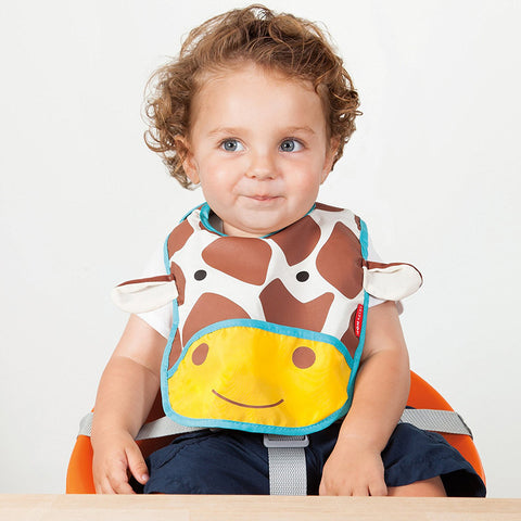 Skip Hop Zoo Infant and Toddler Tuck-Away Bib, Giraffe