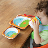 Skip Hop Baby Zoo Little Kid and Toddler Melamine Feeding Divided Plate, Dog
