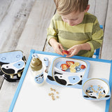 Skip Hop Baby Zoo Little Kid and Toddler Melamine Feeding Divided Plate, Cow