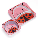 Skip Hop Zoo Melamine Plate And Bowl Set, Ladybug
