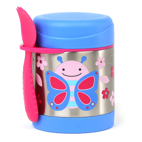 Skip Hop Zoo Little Kid Insulated Food Jar, Butterfly