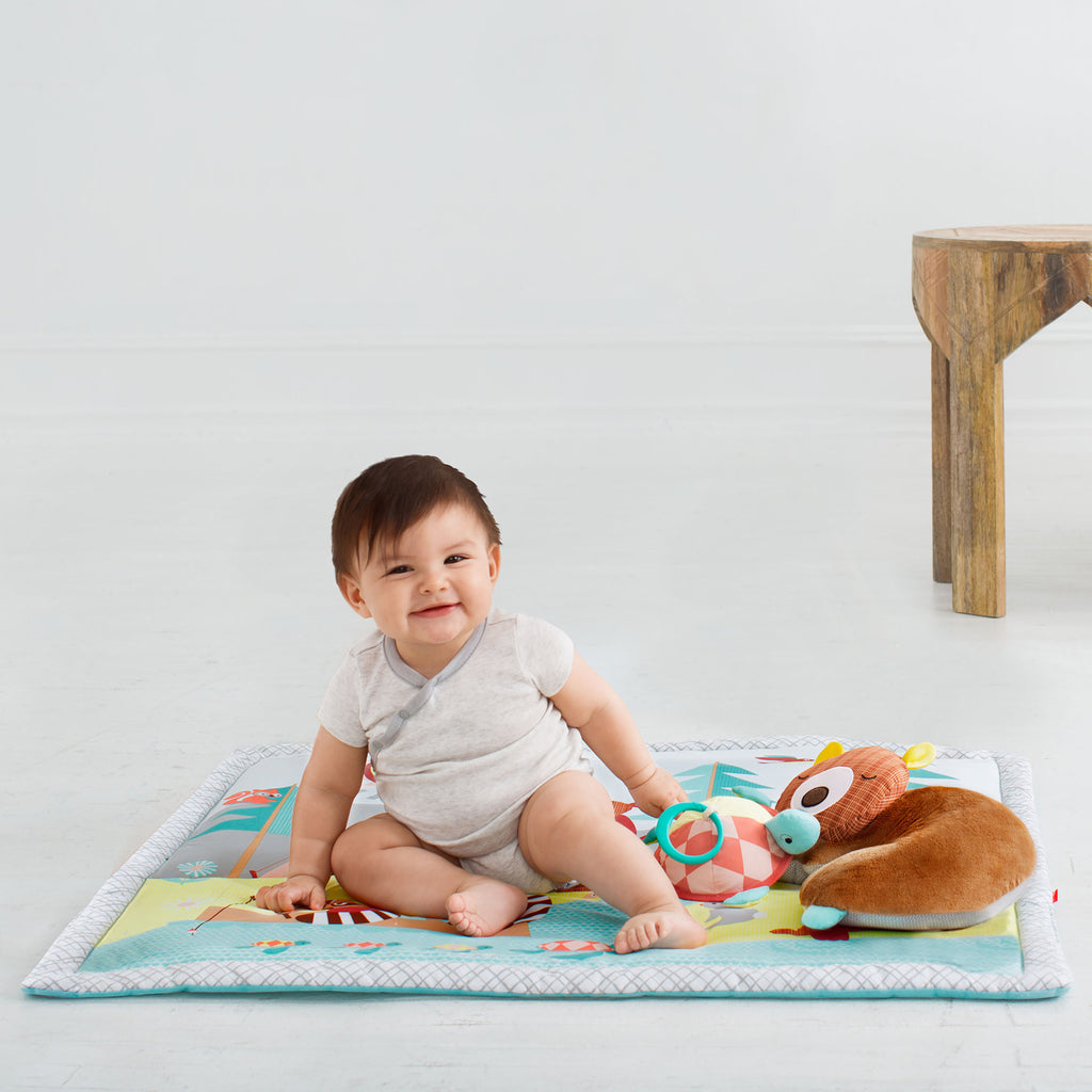 Skip Hop Baby Infant and Toddler Camping Cubs Activity Gym and Playmat