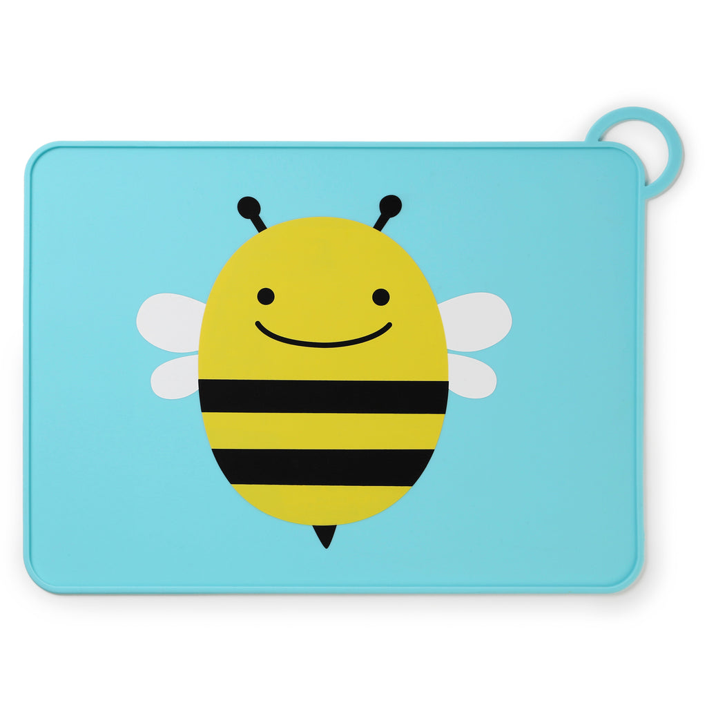 Skip Hop Zoo Fold & Go Silicone Placemat, Bee