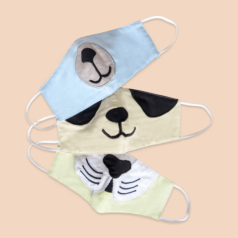 Masilo Face Mask Set of 3 – Animals (Kids)