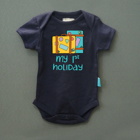 My First Holiday - Organic Cotton Onesie