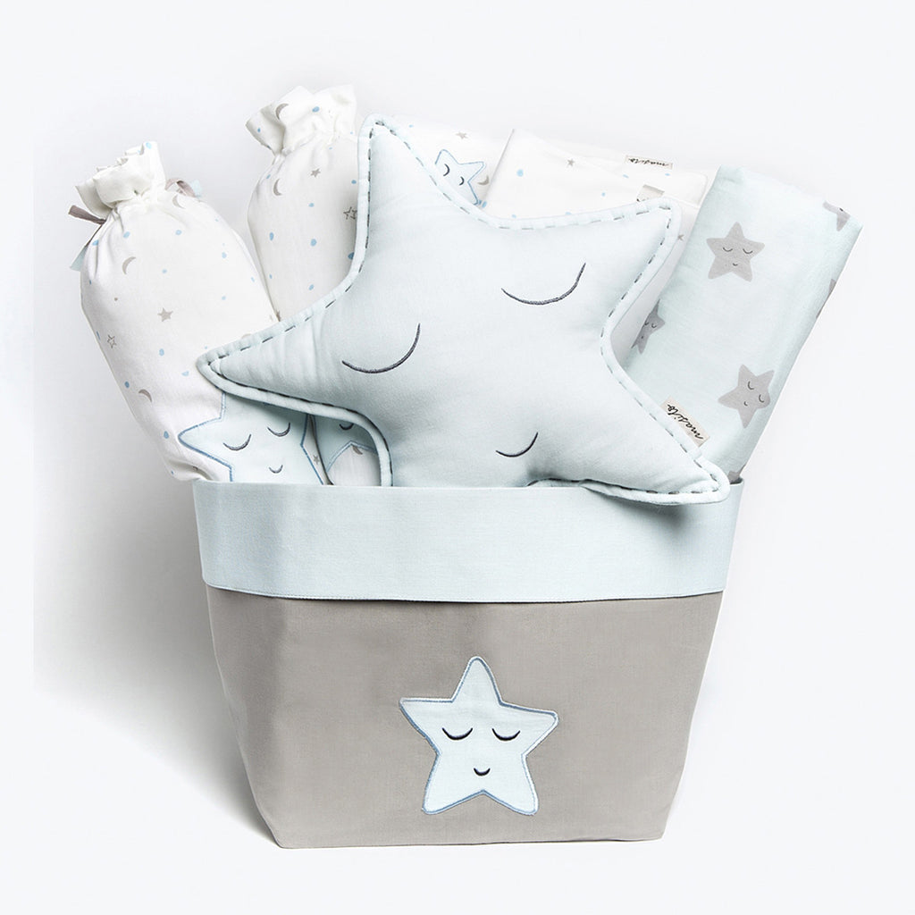 "Baby Rock My Crib Gift Basket <br> Blue Star<br><span style=""font-size: 10px;"">Can be Personalised</span>"