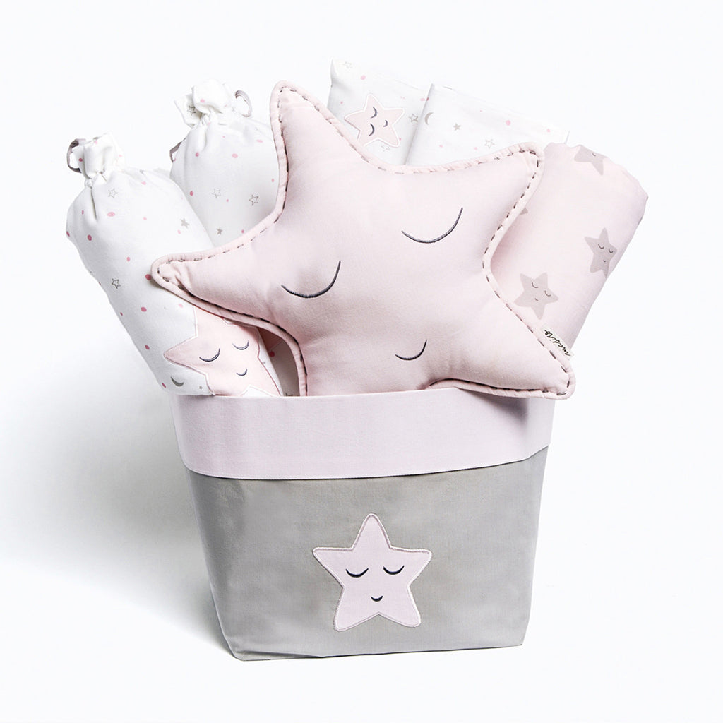 "Baby Rock My Crib Gift Basket <br> Pink Star<br><span style=""font-size: 10px;"">Can be Personalised</span>"