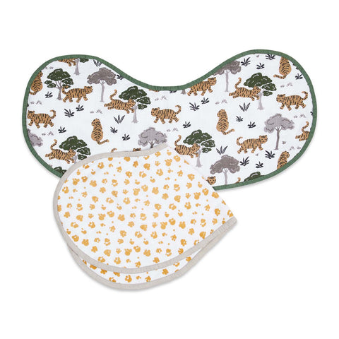 Masilo Organic Muslin Burp Cloth & Bib (2-Pack) - Born To Be Wild