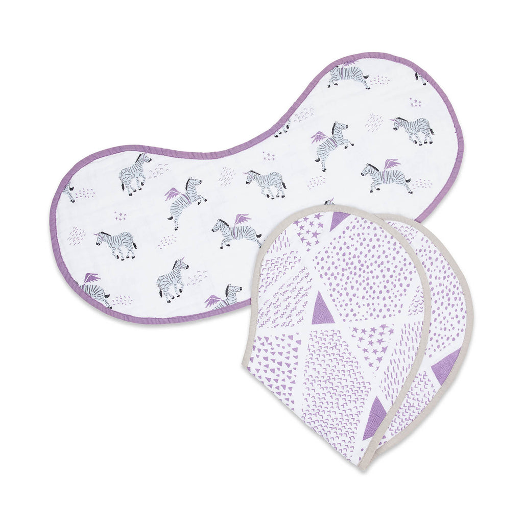 Organic Muslin Burp Cloth & Bib (2-Pack) - Never Stop Dreaming