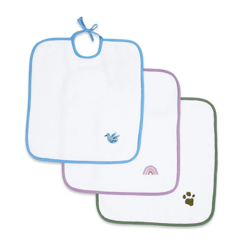 Masilo Elegant Terry Bibs - Pack of 3