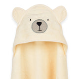 Organic Cotton Hooded Towel - Teddy Bear Cream