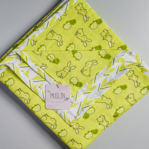 Muslin Reversible Dohar - Hare and Turtle