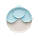 Miniware Healthy Meal Suction Plate with Dividers Set, Aqua
