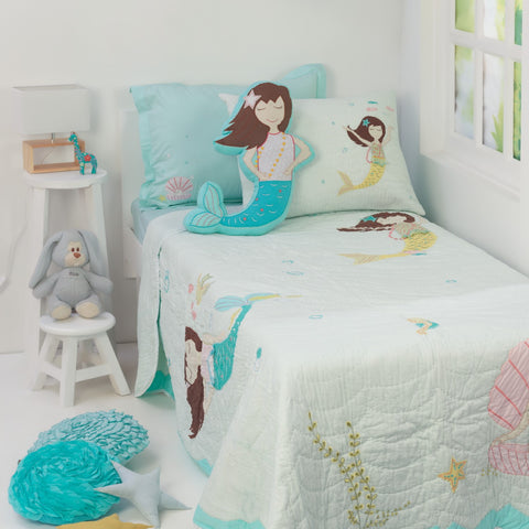 Magical Mermaids Kids Bedding Set <br> With Free Personalisation, Ages 3 to 15