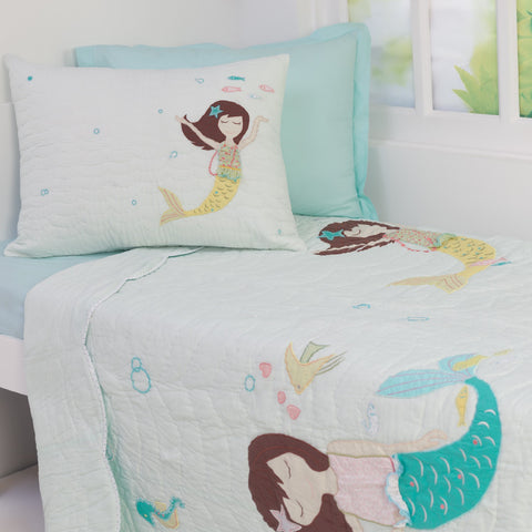 "Magical Mermaids Kids Quilt <br> <span style=""font-size: 11px; font-family:Helvetica,Arial,sans-serif;"">Can Be Personalised, Ages 3 to 15</span>"