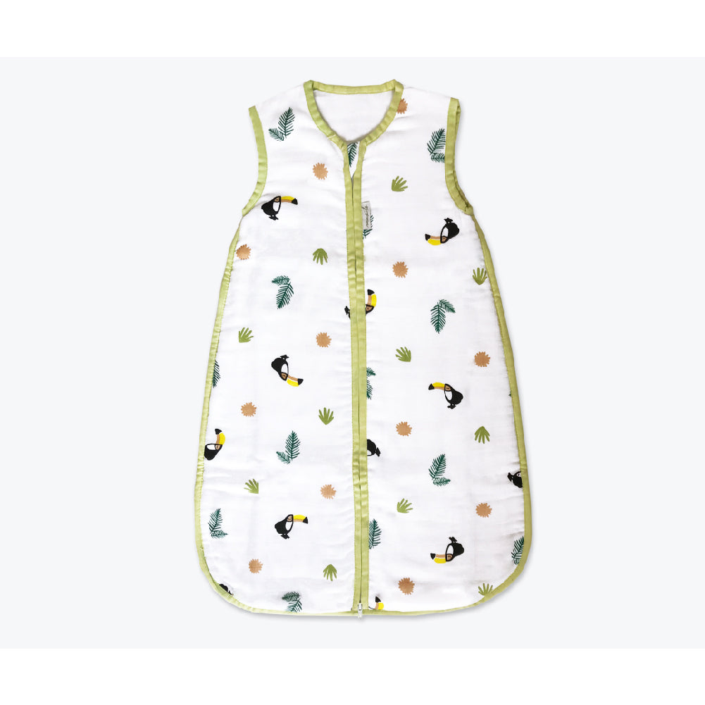 Masilo Organic Muslin Sleeping Bag - Tropical Toucan