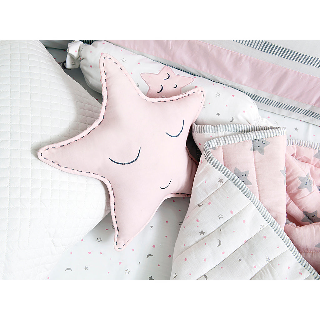 Masilo Organic Shaped Cushion - Pink Star