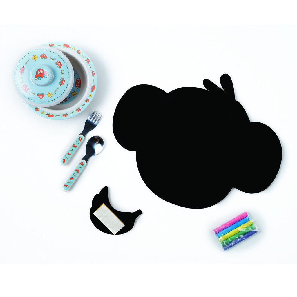 Meal Time Shaped Chalkboard Mat & Coaster - Monkey