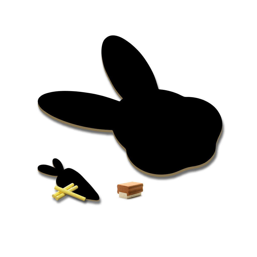Meal Time Shaped Chalkboard Mat & Coaster - Bunny