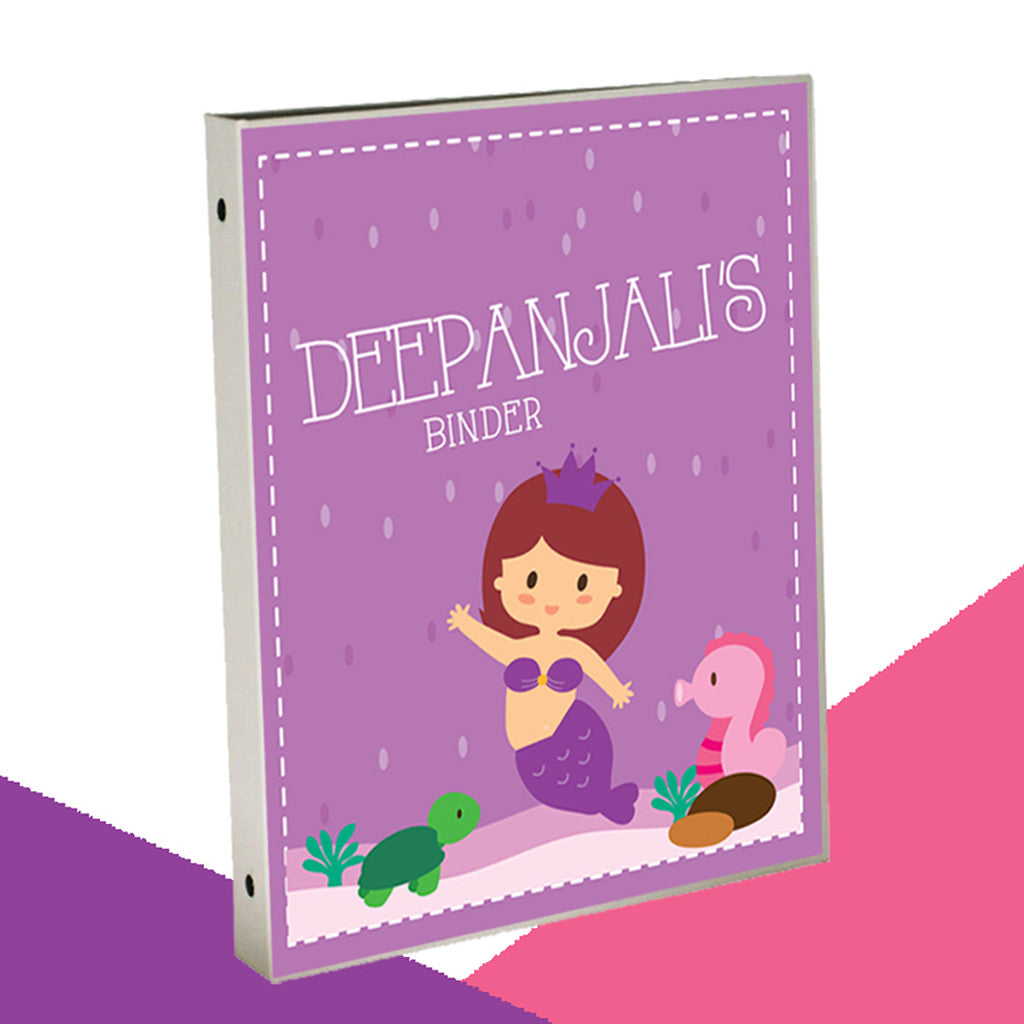 Personalised Binder - Mermaid