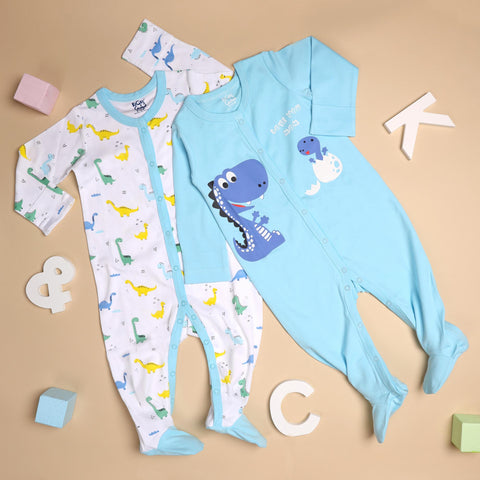 Kicks & Crawl- Mommy's Favourite Dino Sleepsuit (NB, 0-24)