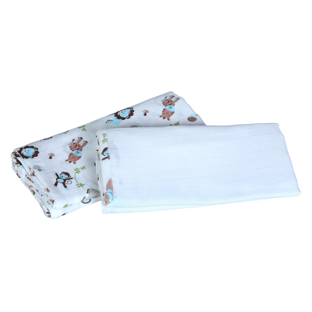 Muslin Swaddle - Blue (Pack of 2)