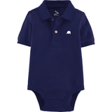 Pique Polo Onesie Set of 2 (Navy & Green)