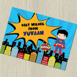 Personalised Notecards - Superboy, Set of 20