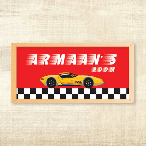 Name Frame - Racing Car