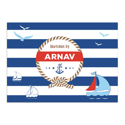 Personalised Sketch Book - Nautical