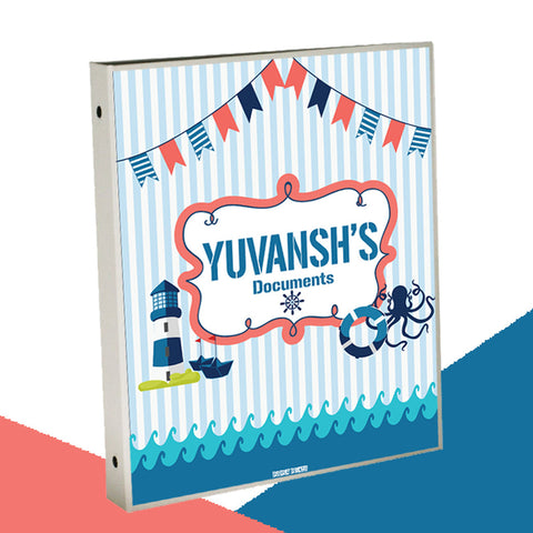 Personalised Binder<br/>Nautical Theme